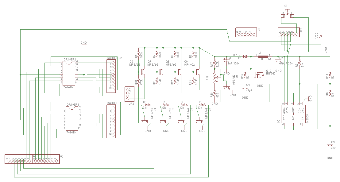 Nixie Tube Wiring Diagram - All Diagram Schematics