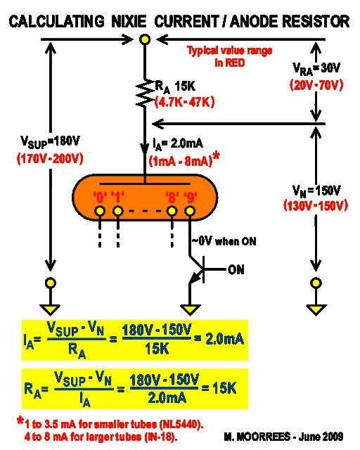 in 18 nixie tube clock nixies presentation and clock constructionnixie anode resistor