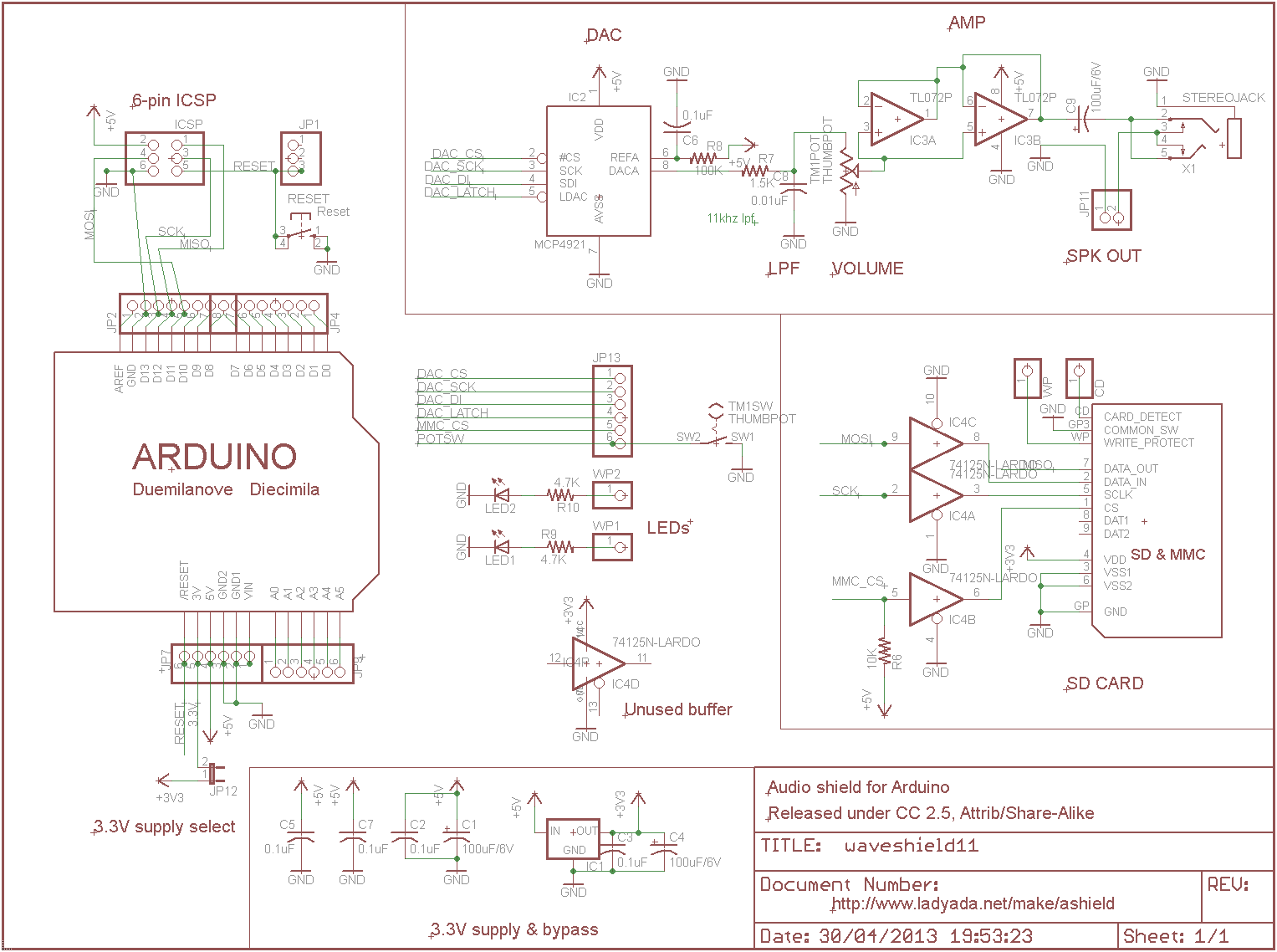 In 18 Nixie Tube Clock Circuits And Wiring Diagrams Hazardous Power Supply Circuit Moreover Dc Furthermore Adafruit Waveshield Figure 32 Schematic